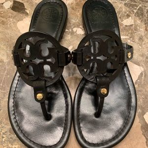 Like New Black Tory Burch Miller sandals 8M